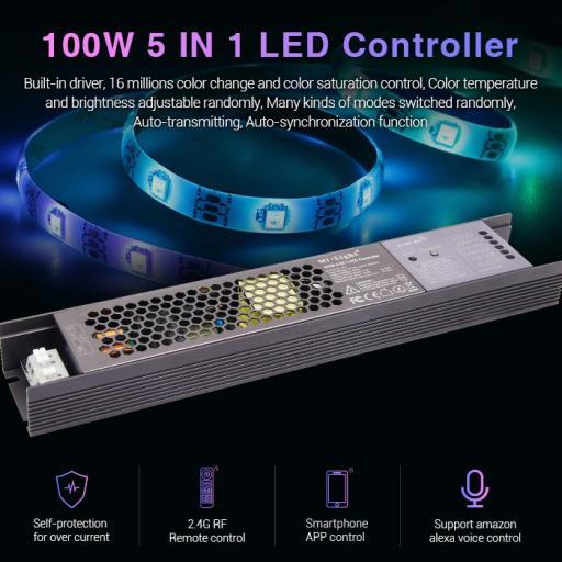 Controlador 100W 5 en 1.  Fuente Alimentacion Integrada. Polivalente.  [2]