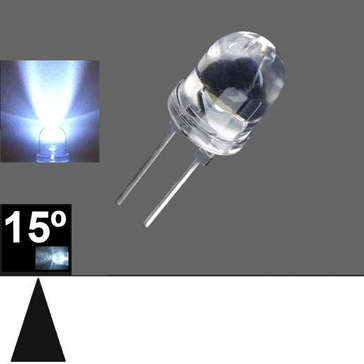 825PWC LED 8mm. Blanco 7000ºK 17-23º