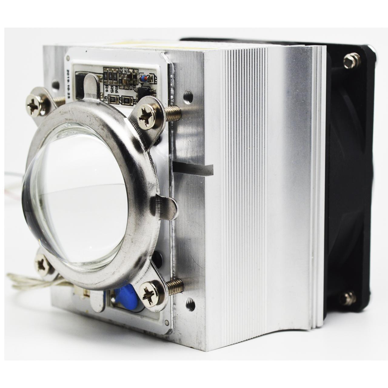 Motor LED de Luz Negra. 50W. Completo con ventilador y fuente de control.