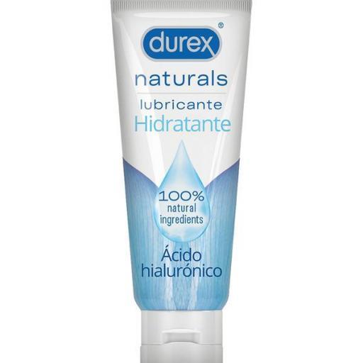 Lubricante Durex Naturals 100% Hidratante con Ácido Hialurónico - 100 ml