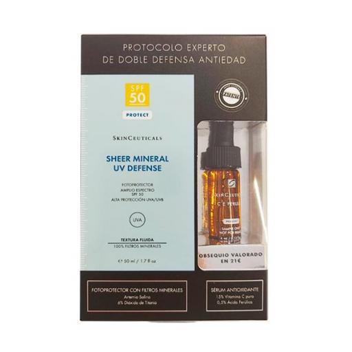 SkinCeuticals Sheer Mineral UV Defense SPF50, 50 ml + REGALO CE FERULIC 4ML