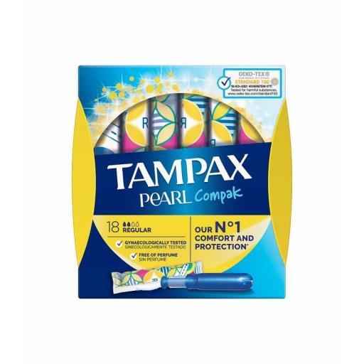 Tampax Compak Pearl Regular 18 Unidades