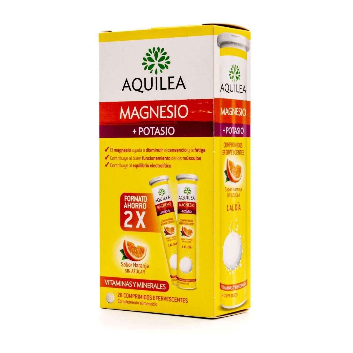 AQUILEA MAGNESIO + POTASIO 28 COMPRIMIDOS EFERV.