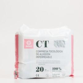 Indas Compresas tocológicas algodón, 20 uds.