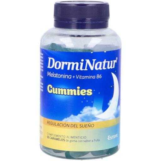 DORMINATUR GUMMIES MELATONINA + VIT. B6 50 GOMINOLAS