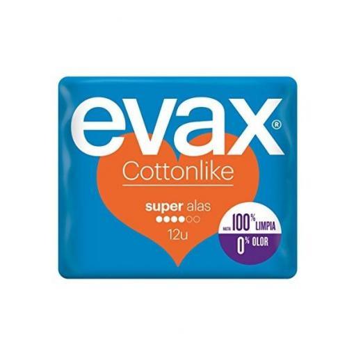 Evax Cottonlike Super con Alas 12 Compresas