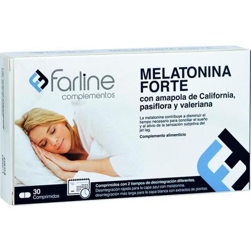 MELATONINA FORTE FARLINE 30 COMPRIMIDOS