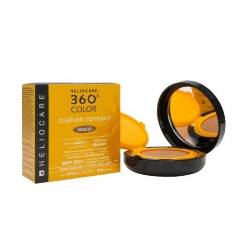 HELIOCARE 360º COLOR CUSHION COMPACT BRONZE SPF50 15 GR.