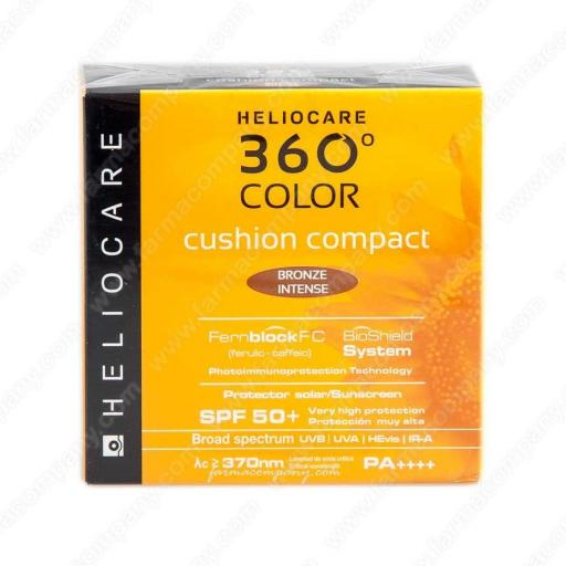 Heliocare 360° Color Cushion Compact SPF 50  bronce intenso.