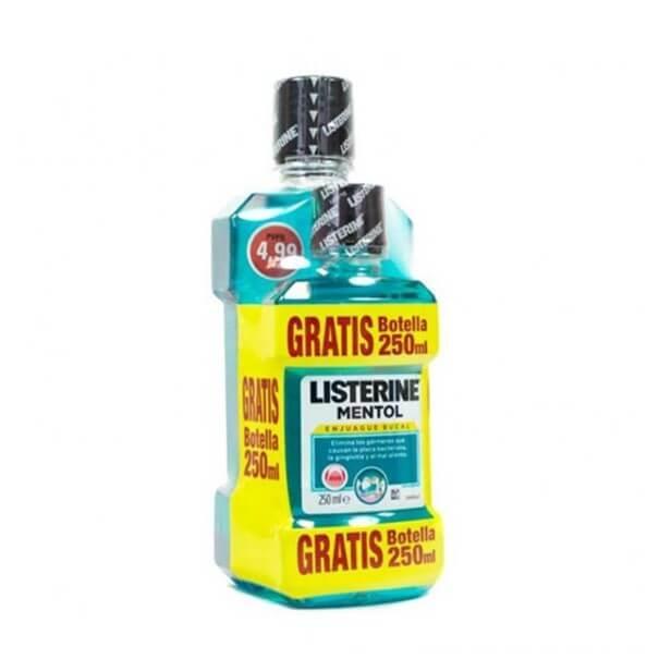 Listerine mentol antiseptico bucal 500 + 250 ml