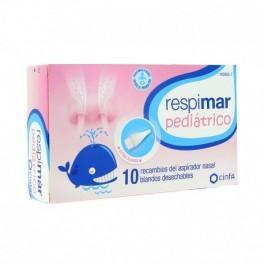 RECAMBIOS ASPIRADOR NASAL RESPIMAR PEDIÁTRICO 10 RECAMBIOS