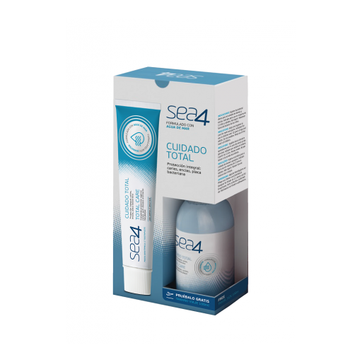 Sea4 pasta de dientes Cuidado Total 75 ml + colutorio 100 ml