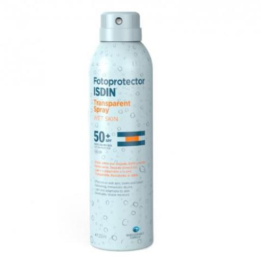 Fotoprotector ISDIN Trasparent Spray Wet Skin 50+