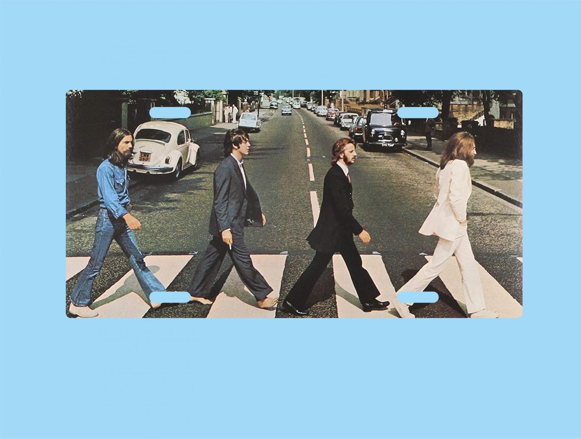 Placa de Metal The Beatles, Abbey Road