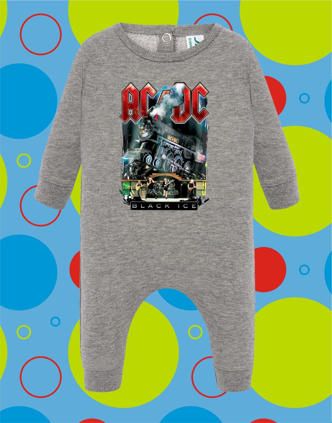 Pelele de bebé ACDC Black Ice
