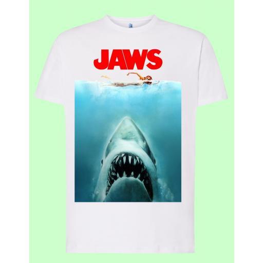 Camiseta blanca Jaws