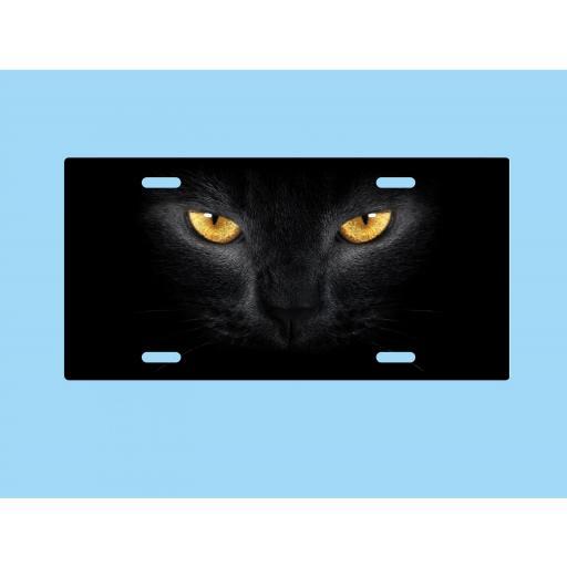 Placa de Metal Ojos de Gato
