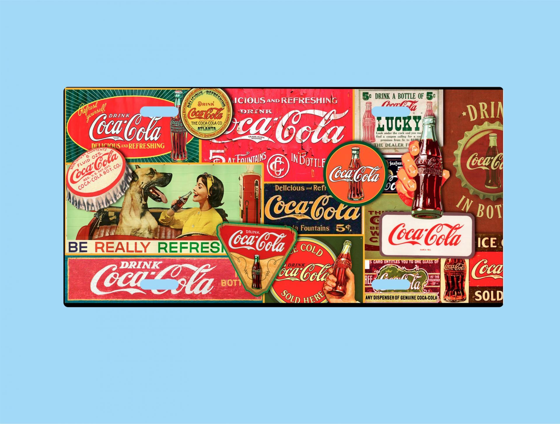 Placa de Metal Coca Cola Vintage