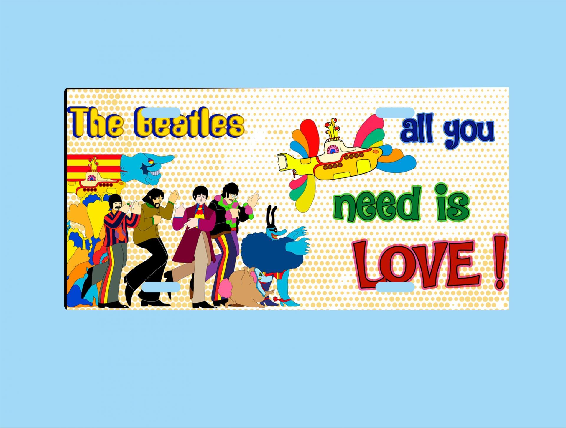 Placa de Metal Beatles All you need is love