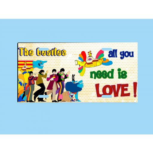 Placa de Metal Beatles All you need is love