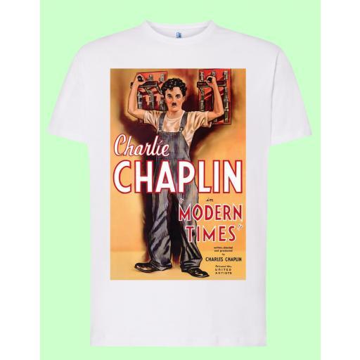 Camiseta blanca Chaplin Tiempos Modernos