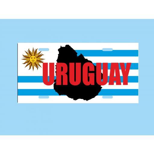 Placa de Metal Uruguay