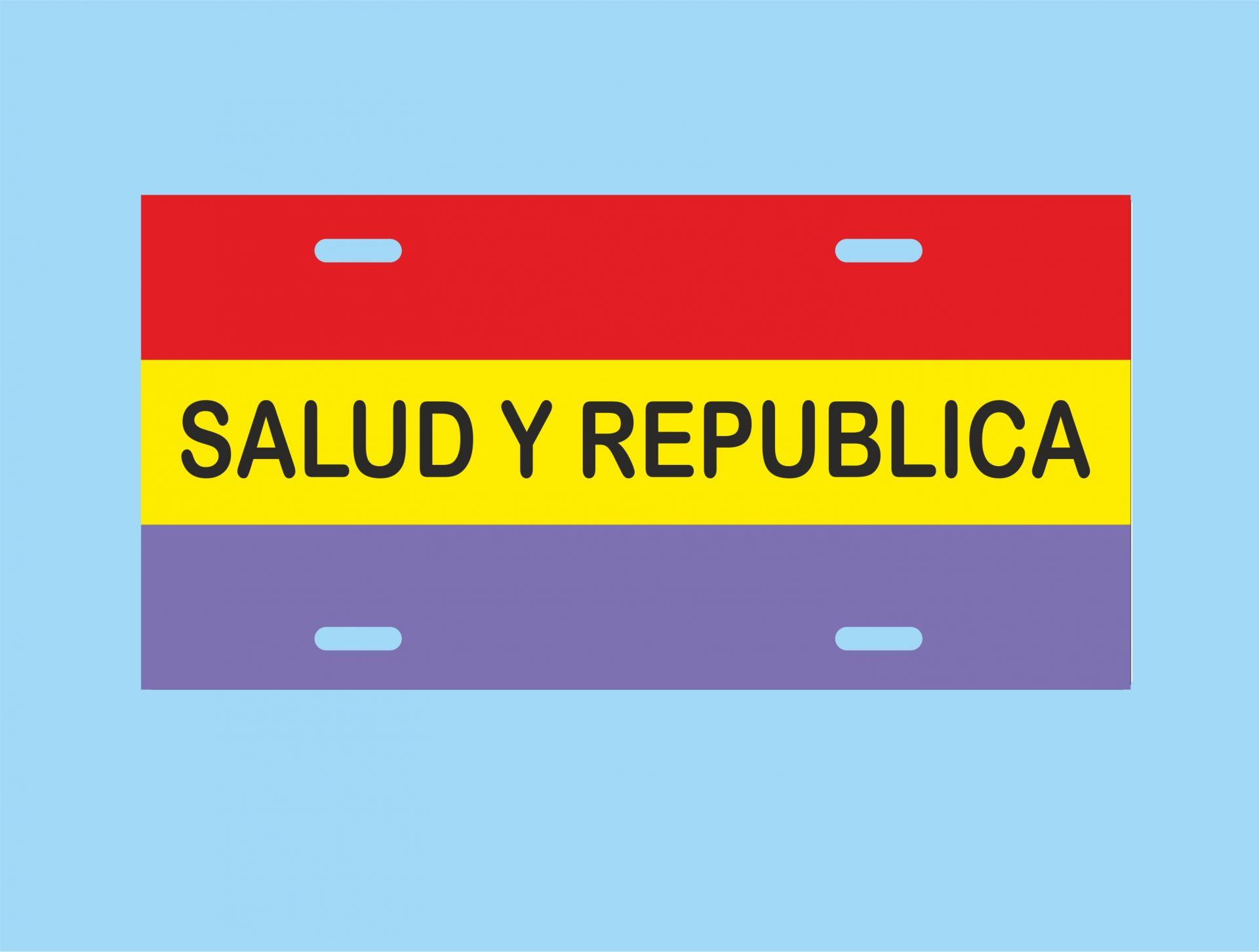 Placa de Metal Salud y República