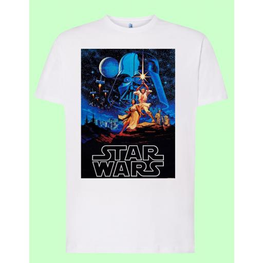 Camiseta blanca Star Wars