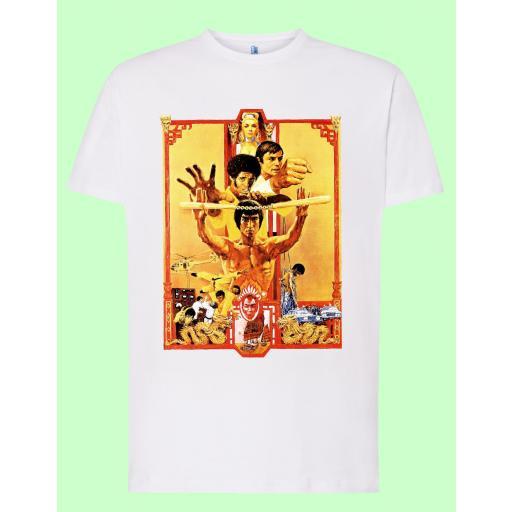 Camiseta blanca Bruce Lee