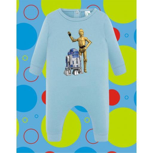 Pelele de bebé R2D2-C3PO [1]