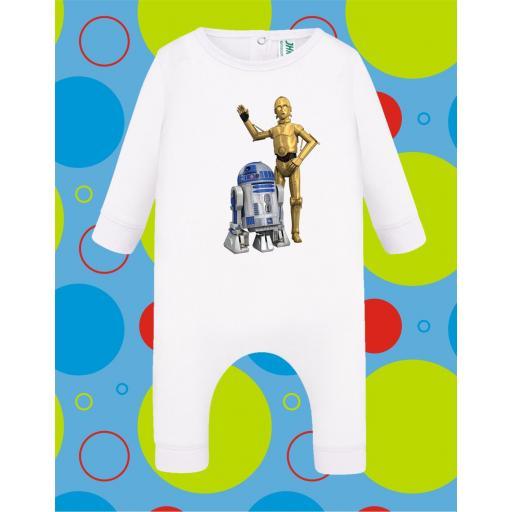 Pelele de bebé R2D2-C3PO [2]