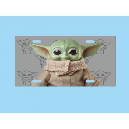 Placa de Metal Yoda bebe (PL022)