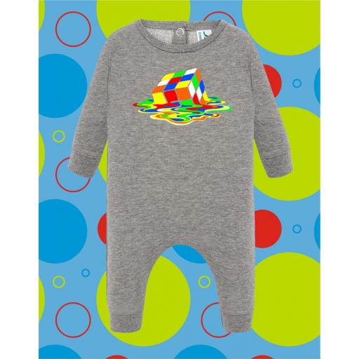 Pelele de bebé Cubo derretido [0]