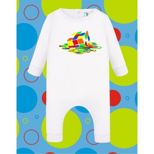 Pelele de bebé Cubo derretido [3]