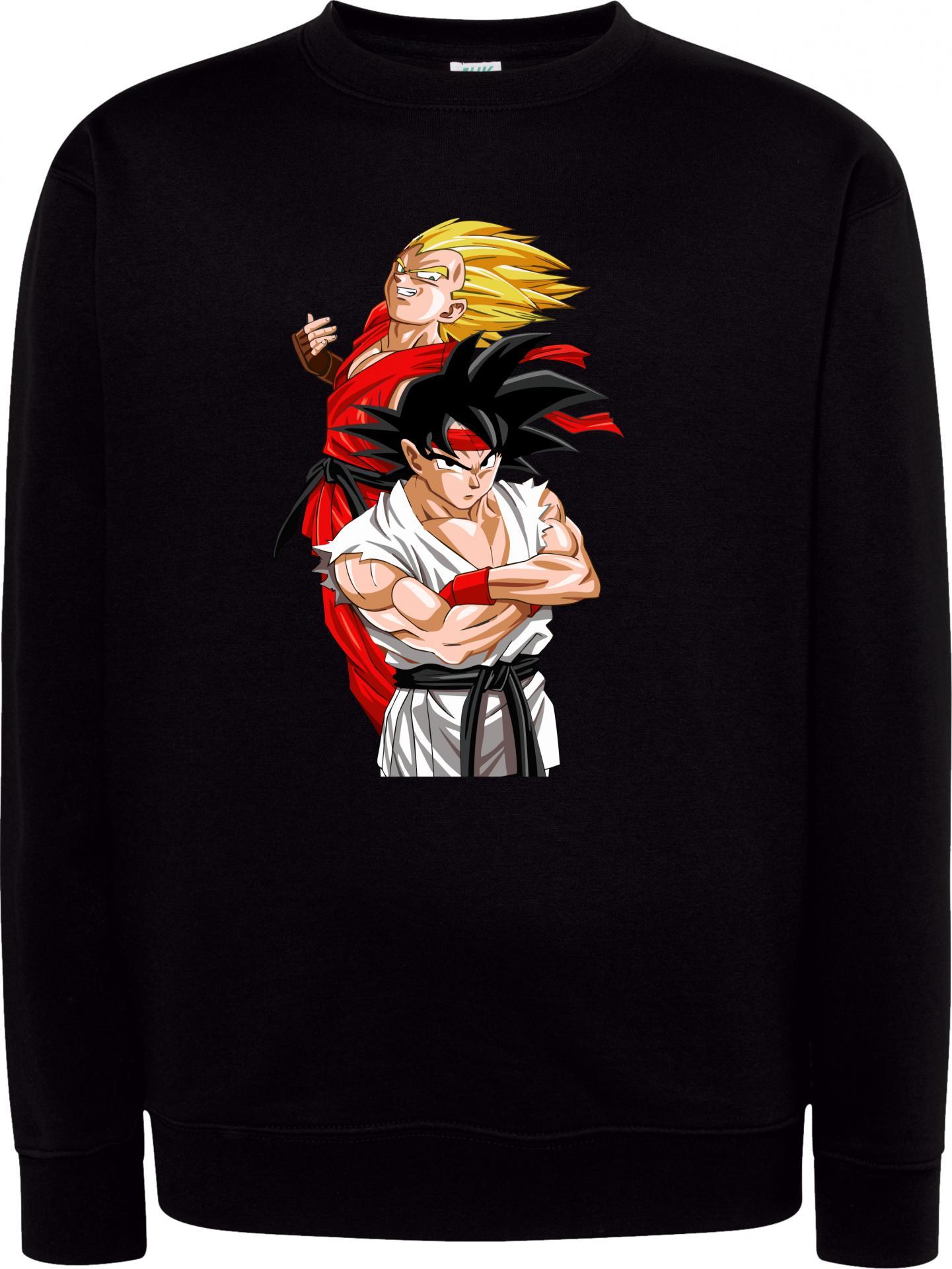 Sudadera Cuello Redondo Goku Street Fighter
