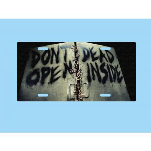 Placa de Metal The Walking Dead