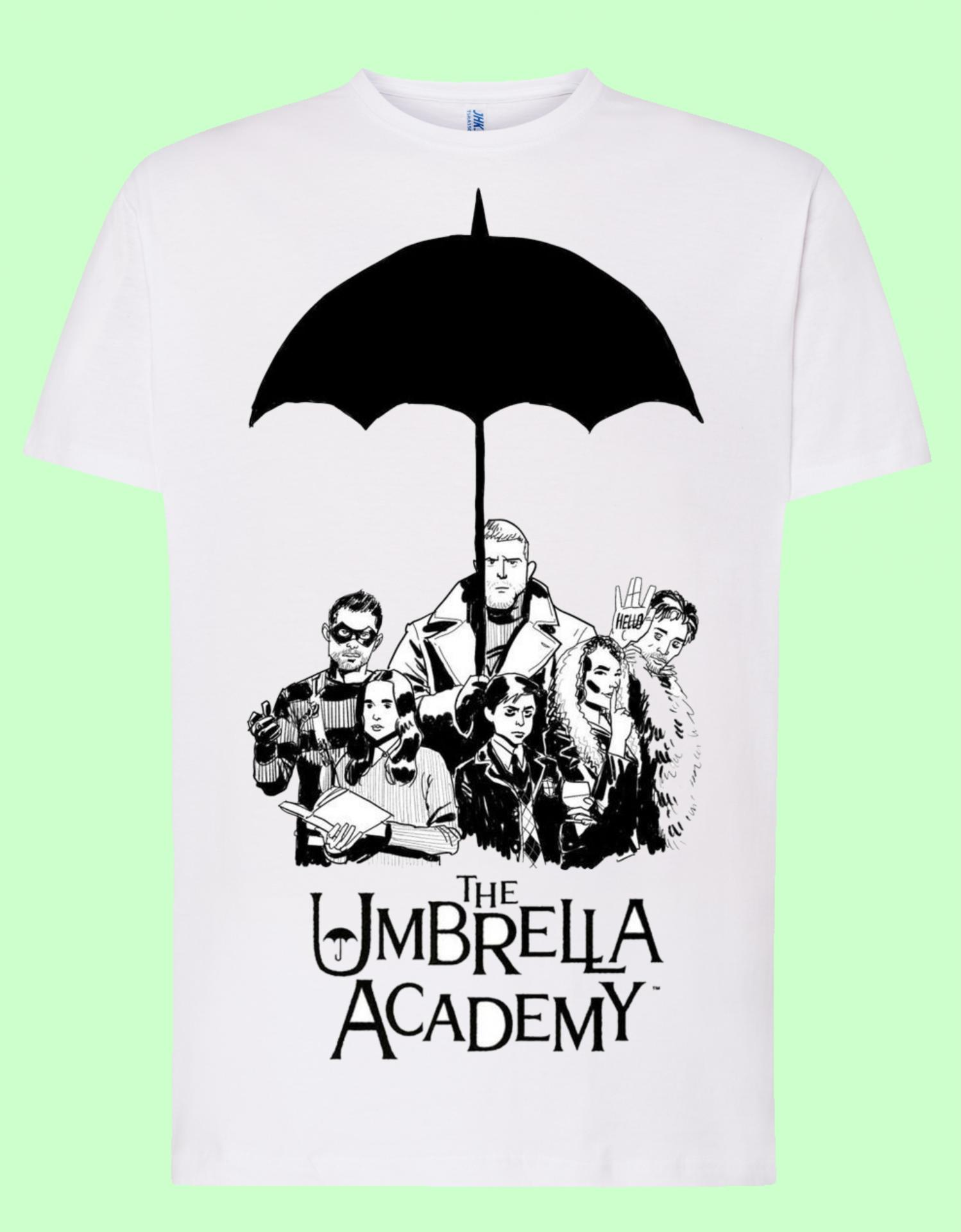 Camiseta blanca Umbrella Academy