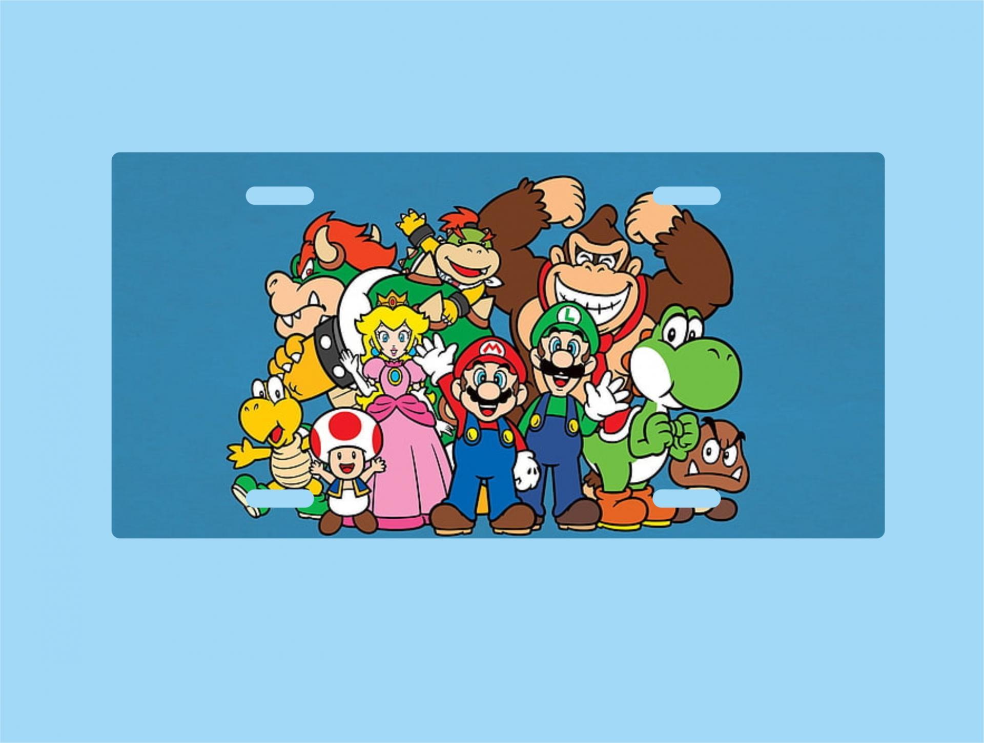 Placa de Metal Mario Bros. (PL019)