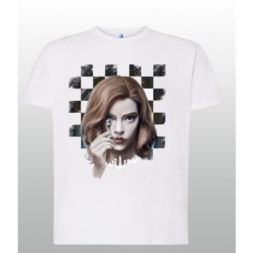 Camiseta blanca Gambito de Dama (CS025)