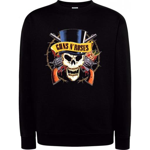 Sudadera Cuello Redondo Guns and Roses