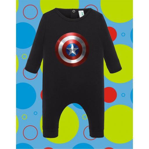 Pelele de bebé Capitan América [3]