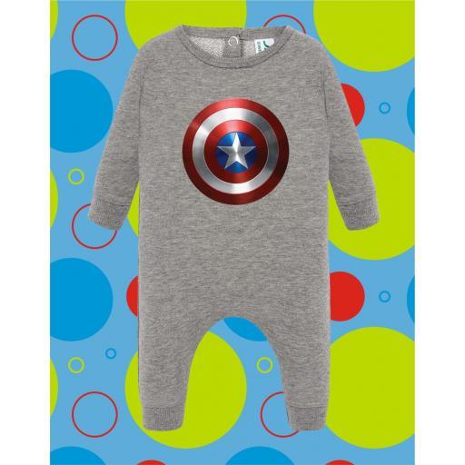 Pelele de bebé Capitan América [1]