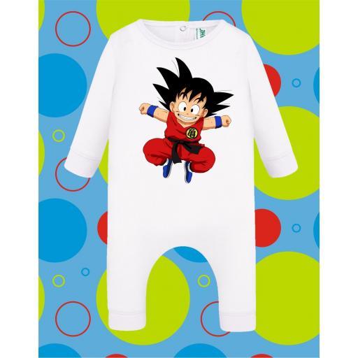 Pelele de bebé Goku Saltando [2]