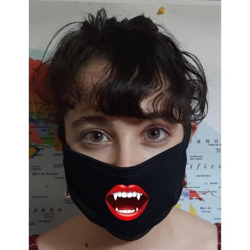 Mascarilla Protección Boca de Vampiro