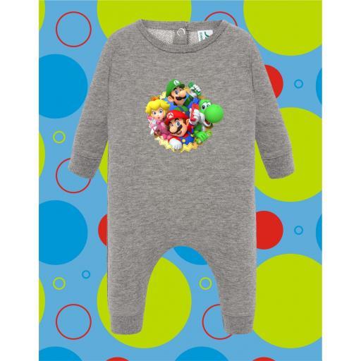 Pelele de bebé Mario Grupo [1]