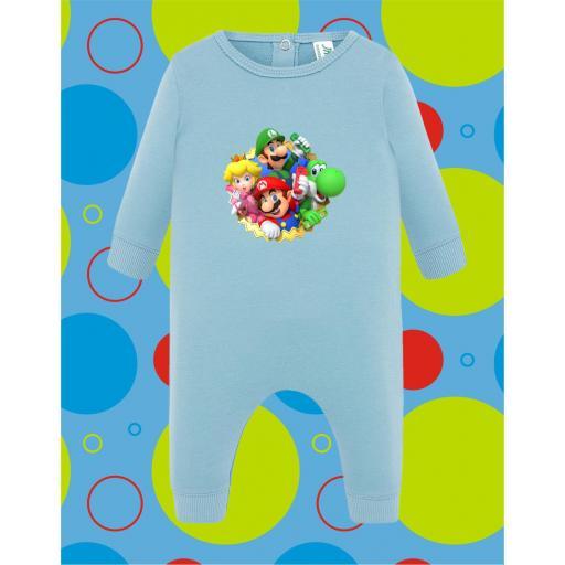 Pelele de bebé Mario Grupo