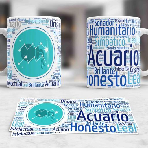 Taza Signos del Zodíaco Acuario (029)