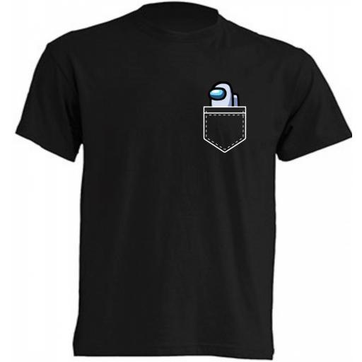 Camiseta Among Us bolsillo [1]