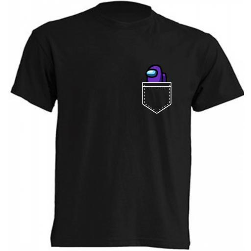 Camiseta Among Us bolsillo [2]