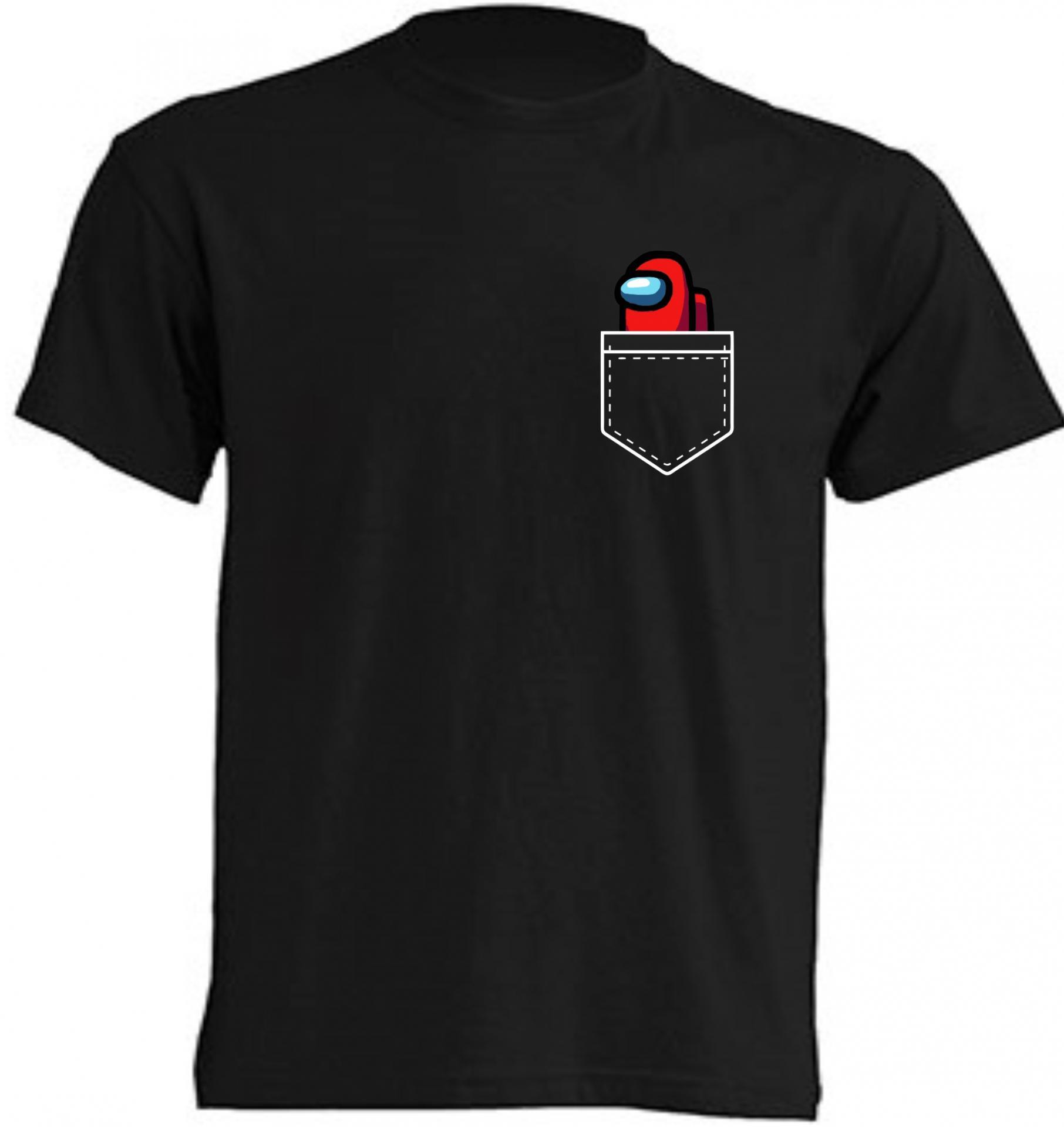 Camiseta Among Us bolsillo